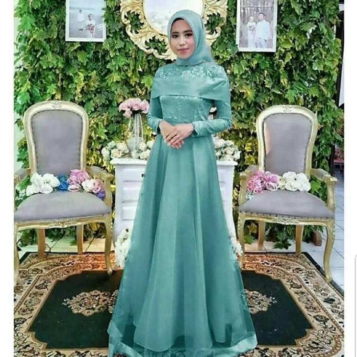 Jual Gamis Syantik Brukat Gamis Maxi Pesta Muslimah Cantik Elegan