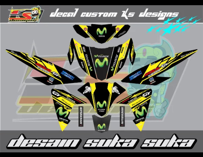 Jual decal striping full body mio soul GT 125 movistar yellow black - Kab   Sumedang - sticker-one   Tokopedia