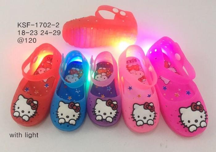 harga Sandal sepatu bekro ksf-1702 hello kitty nyala bayi dan balita Tokopedia.com