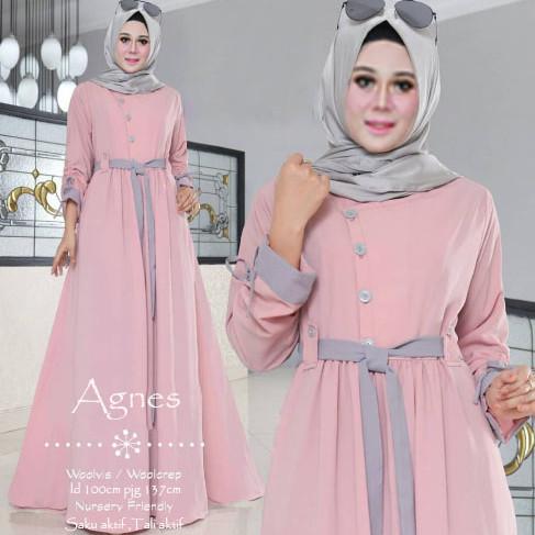 Jual Pakaian Baju Muslim Remaja Wanita Terbaru Busana Fashion Agnes Maxi Kota Tangerang Lakuniye Tokopedia