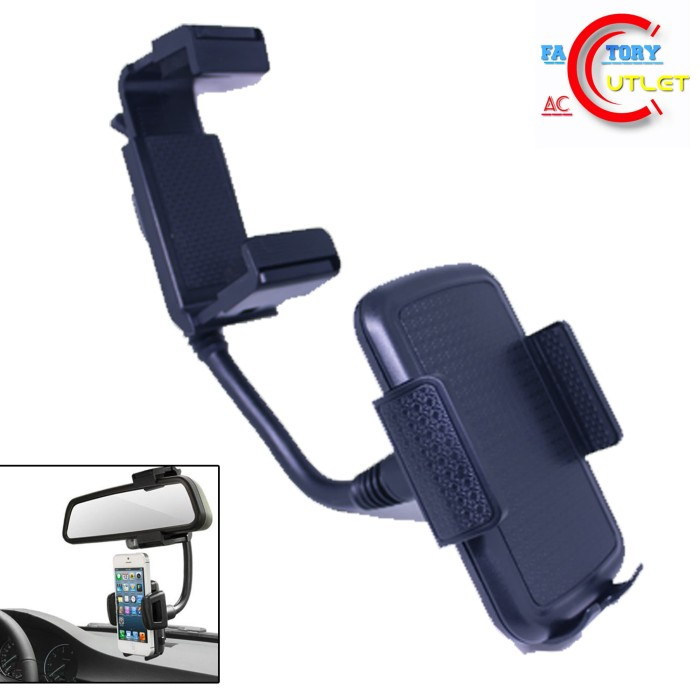 harga Universal car rear view mirror mount - phone holder kaca depan mobil Tokopedia.com