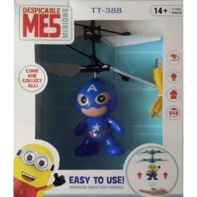 Flying heli helicopter Toy Mainan Anak Terbang Minion Doraemon Hello K
