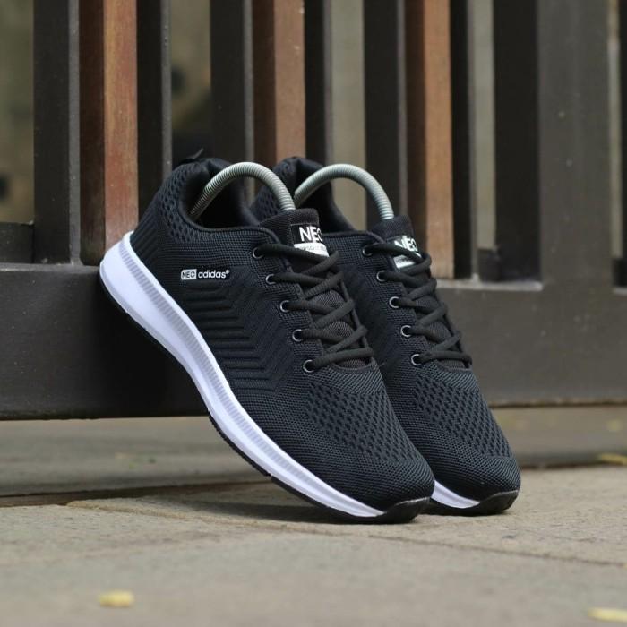Sepatu Adidas Neo Import. Sepatu Pria. Sepatu Sport. Sneakers Adidas -  Hitam Putih 6e6bae809e