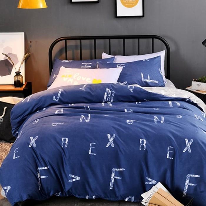 4Pcs Bedding Set Simple Letters Quilt/Duvet Cover