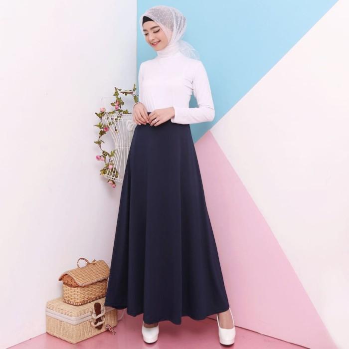 harga Rok panjang wanita jersey murah muslim 6943 - black Tokopedia.com