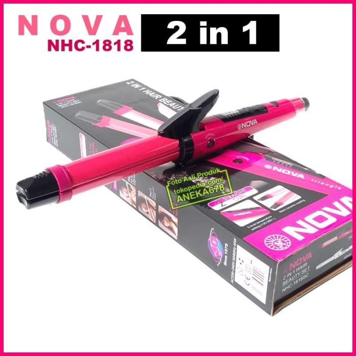 harga Nova 2 in 1 besar tipe nhc-1818sc alat catok / curly 2in1 1818 sc Tokopedia.com