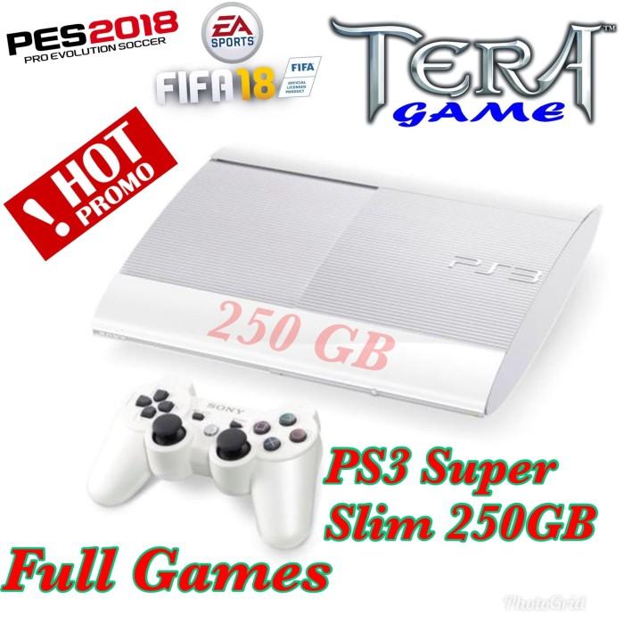 Jual Ps3 Ps 3 Super slim 250 GB FULL GAMES OFW 4 82 WARNA PUTIH - Putih -  Jakarta Barat - Tera game shop | Tokopedia