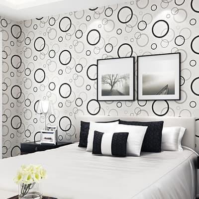 jual wallpaper dinding stiker sticker murah circle bulat motif murah