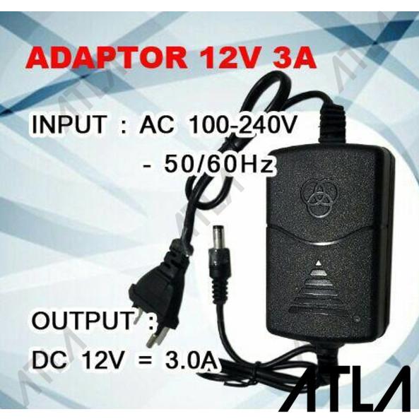 Jual Power Supply Adapter LED CCTV Adaptor 12v 3A Adaptor DC 12v 3A ET009 -  Kota Surabaya - Atla Agrikultur | Tokopedia