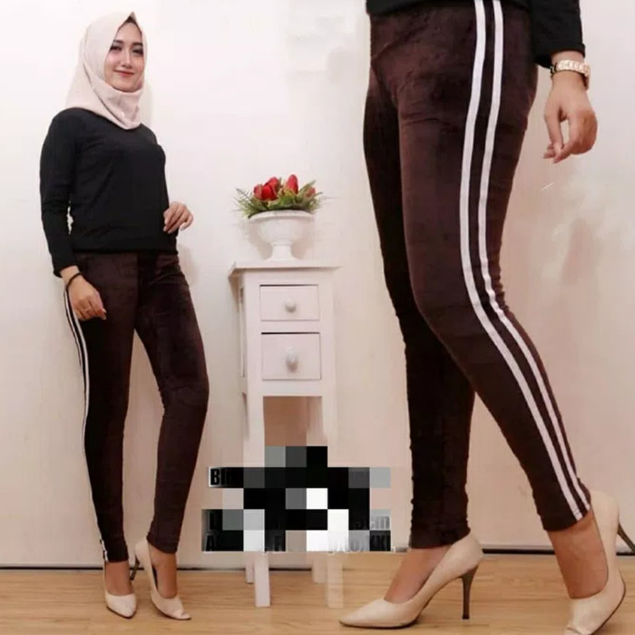 Jual Legging Bludru Coklat 601 Import Celana Legging Velvet Bkk Kota Tasikmalaya Desy Boutique Tokopedia