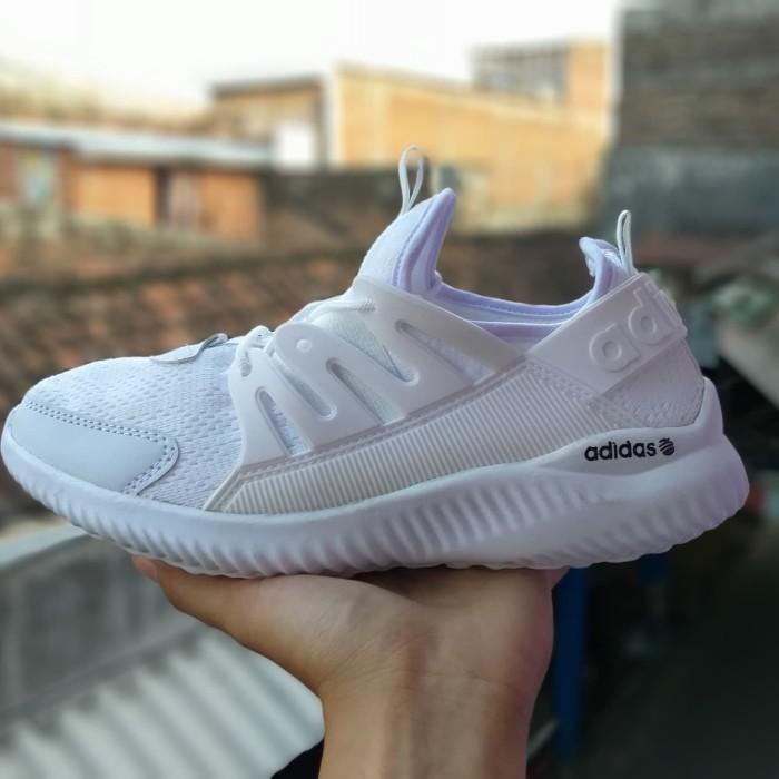 Jual Sepatu Adidas Alphabounce Sneakers Cewek Cowok Fullwhite