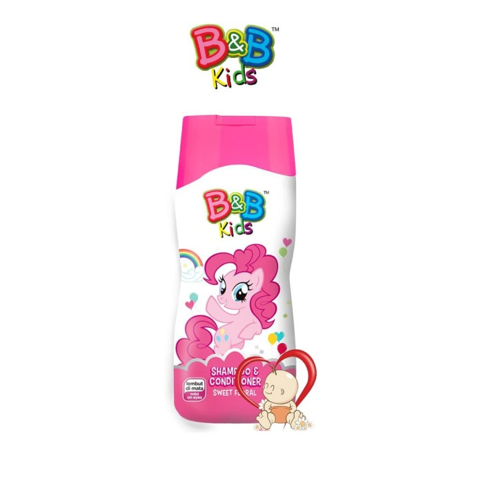 B&b Kids Shampoo + Conditioner Sweety Floral - 200 Ml - Blanja.com