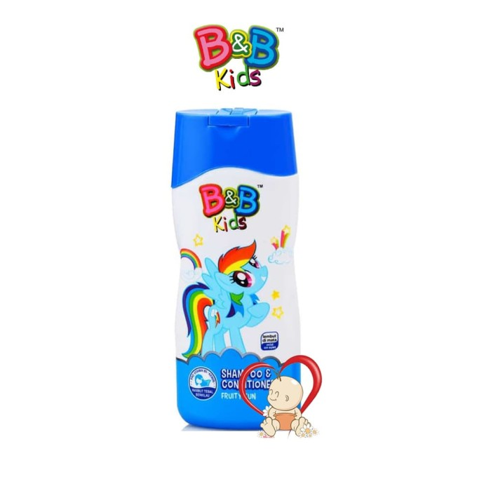 B&b Kids Shampoo + Conditioner Fruity Fun - 200 Ml - Blanja.com