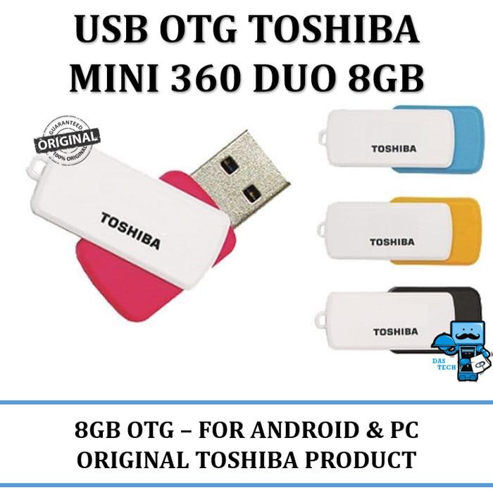 harga Usb otg flashdisk toshiba mini 360 duo 8gb usb 3.0 - android & windows Tokopedia.com