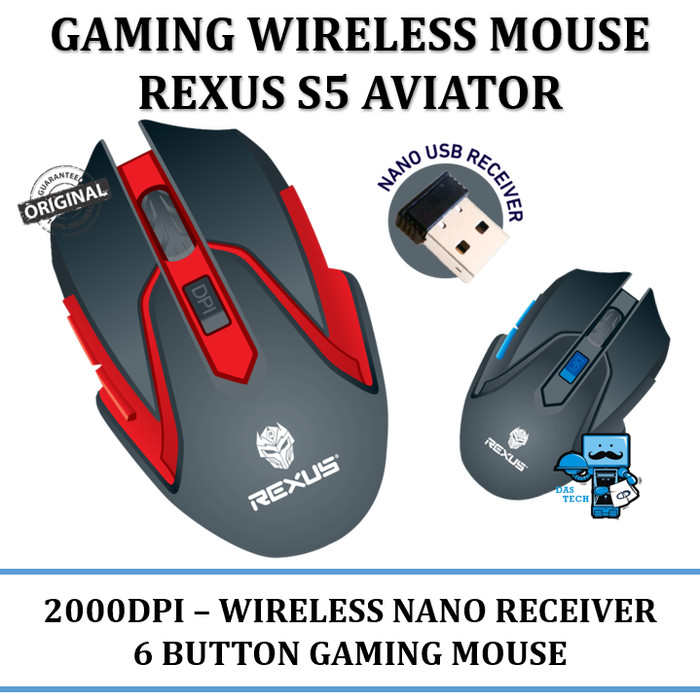 harga Rexus mouse gaming wireless s5 aviator Tokopedia.com
