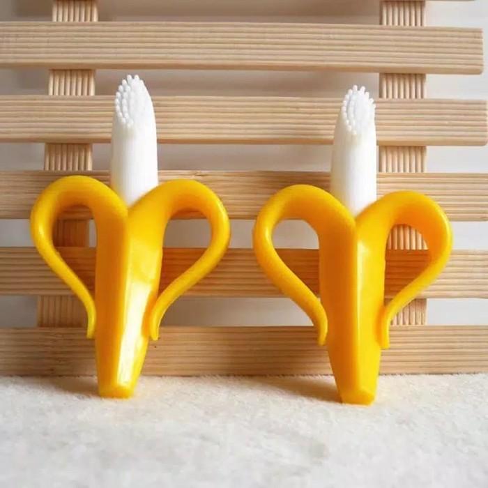 Jual Teether baby toothbrush banana gigitan bayi sikat gigi pisang ... cab97d3329