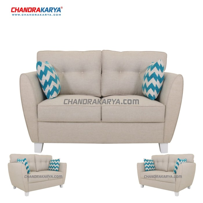harga Sofa minimalis quality spinel - 2-1 dudukan set - cream Tokopedia.com