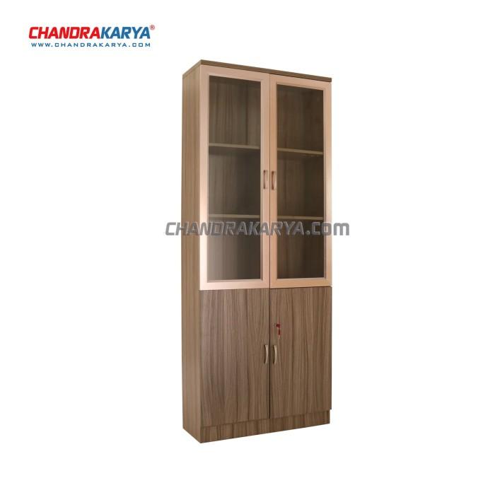 harga Rak buku 102 - minimalis fungsional - 2 pintu - 80cm x 31cm x 201cm Tokopedia.com