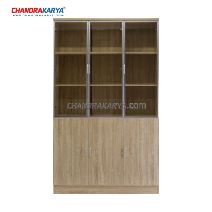 harga Rak buku quality k843 - minimalis fungsional - 3 pintu Tokopedia.com