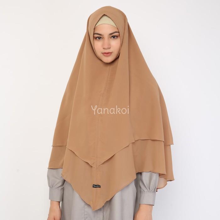 Yanakoi Hijab - Jilbab Khimar Syafa Tanpa Pet Warna Mocca - Blanja.com