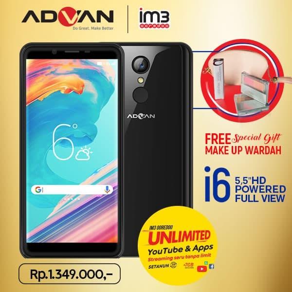 harga Advan i6 unlimited - 2gb/16gb - fullview plus paket kosmetik - hitam Tokopedia.com