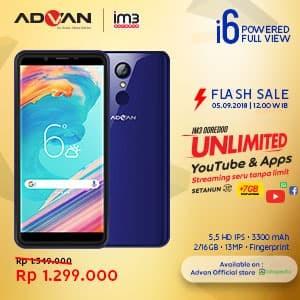 harga Advan i6 unlimited - 2gb/16gb - fullview - flash sale - navy Tokopedia.com