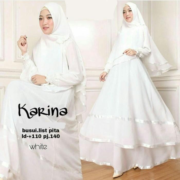 Jual Karina Syari Putih Busana Muslim Modern Baju Gamis Syar I Terbaru Jakarta Pusat Risna Shop Tokopedia