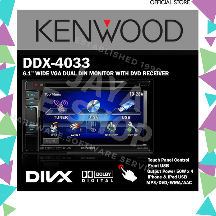 Jual TV Mobil Kenwood DDX-4033[RESMI /BARU] - Kota Surabaya - jaya e-shop |  Tokopedia