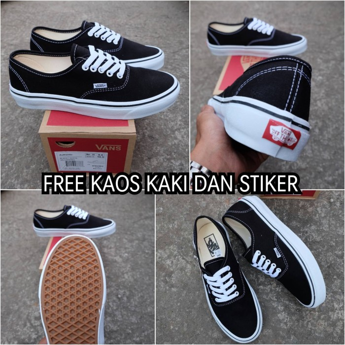 Jual Sepatu vans authentic black white original waffle DT premium ... 5c86429c4f