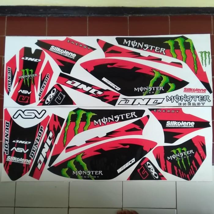 Stiker motor striping motor kawasaki klx 150 l / s variasi monster