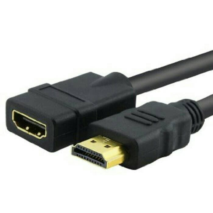 Foto Produk Kabel Hdmi Extension Male to Female 20cm dari Solo Micro