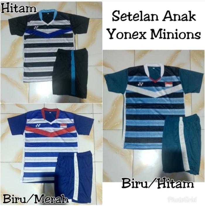 harga Baju badminton yonex versi minions setelan baju badminton anak Tokopedia.com