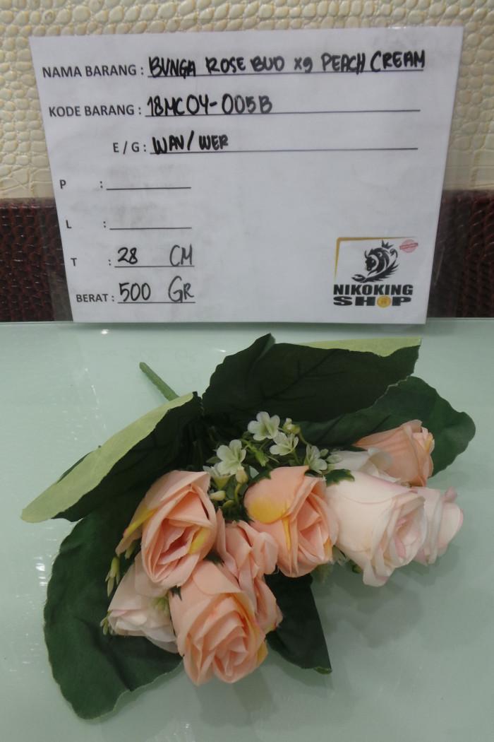 harga Bunga rose bud x9 peach cream 18mc04-005b 30/08 Tokopedia.com