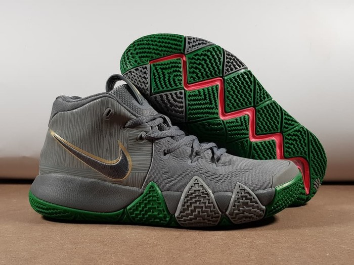buy online a617b 48c7f Jual Sepatu Basket Kyrie 4 City Of Guardians Grey Green Black Abu Hijau -  Top Sneaker Store   Tokopedia