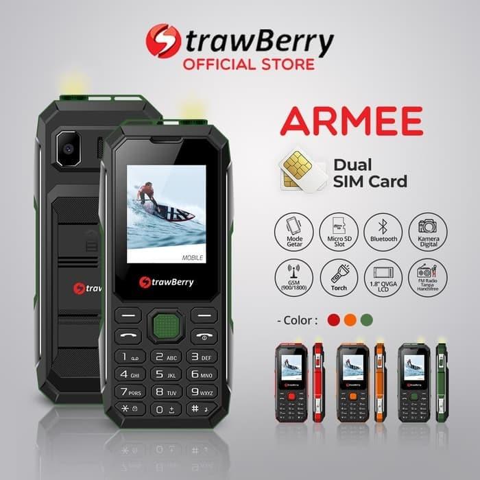 harga [fs] strawberry armee | handphone candybar hp murah kamera speaker - orange Tokopedia.com