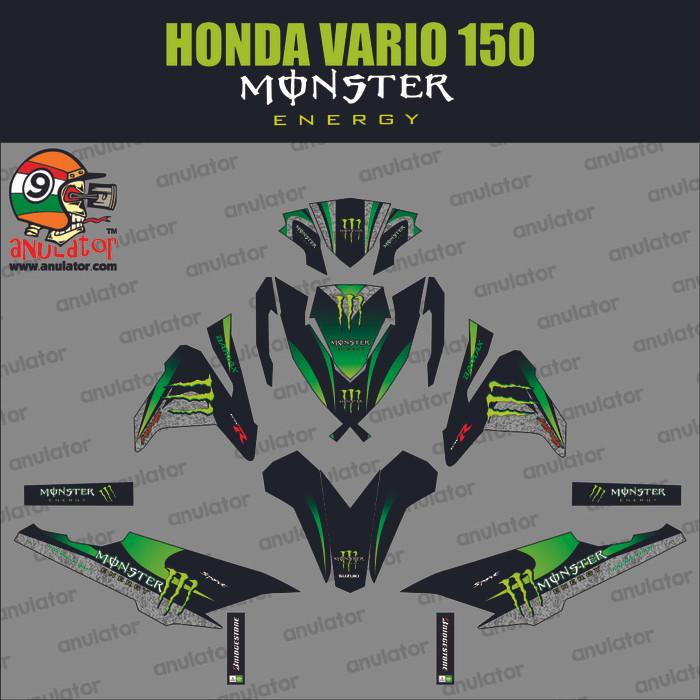 Foto Produk Stiker striping Honda Vario 125 150 ESP Sticker Vinyl Full Body Custom dari anulator-custom