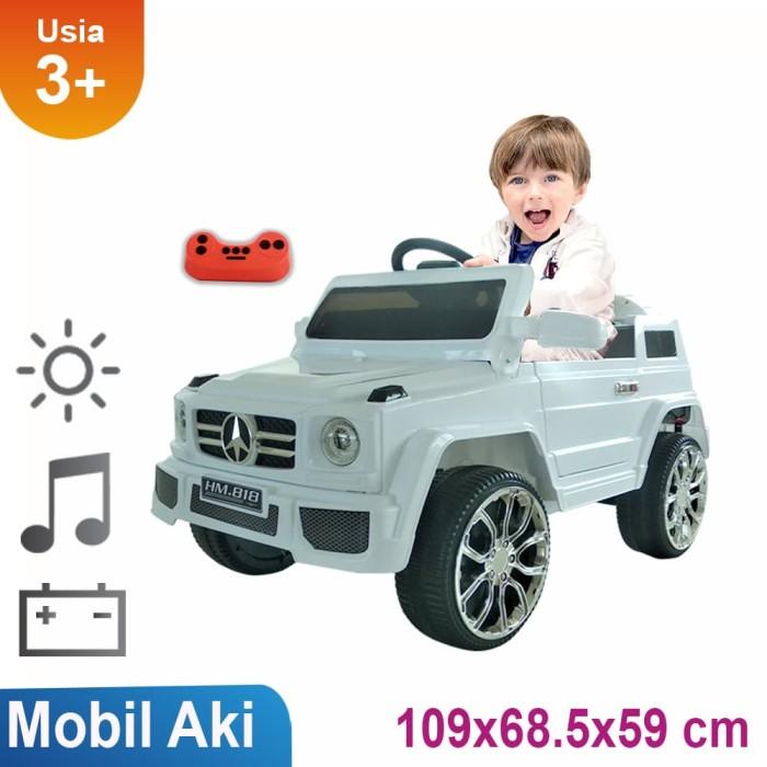 harga Mobil aki jeep mainan anak hm-818 putih Tokopedia.com