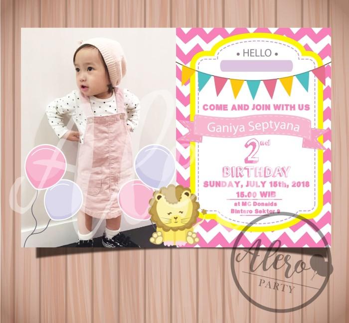 Jual Kartu Undangan Ulang Tahun Anak Little Lion Birthday Invitation Card Jakarta Barat Alero Party Tokopedia
