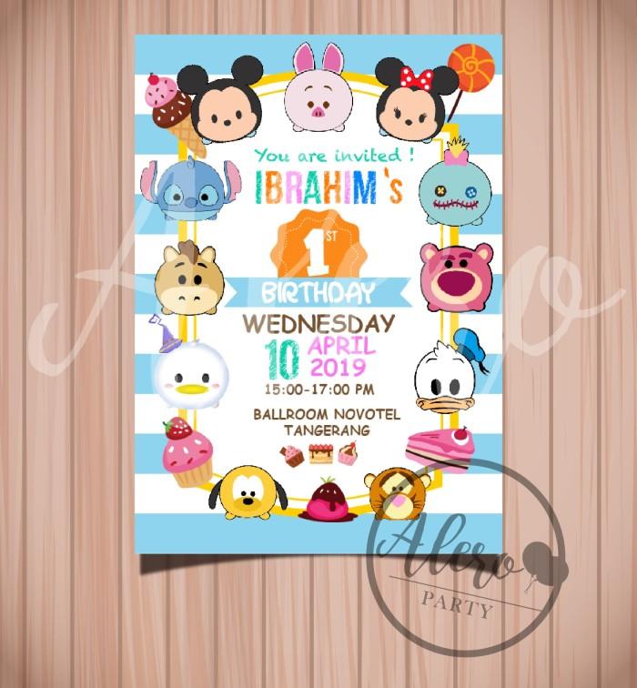 Jual Kartu Undangan Ulang Tahun Anak Tsum Tsum Birthday Card Invitation Jakarta Barat Alero Party Tokopedia