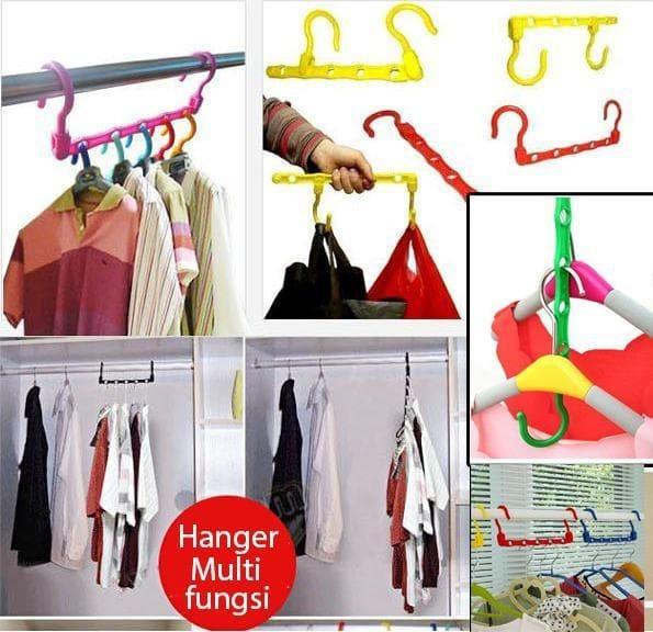 Jual Colorfull Wonder Hanger Magic Gantungan Baju Lemari Pakaian