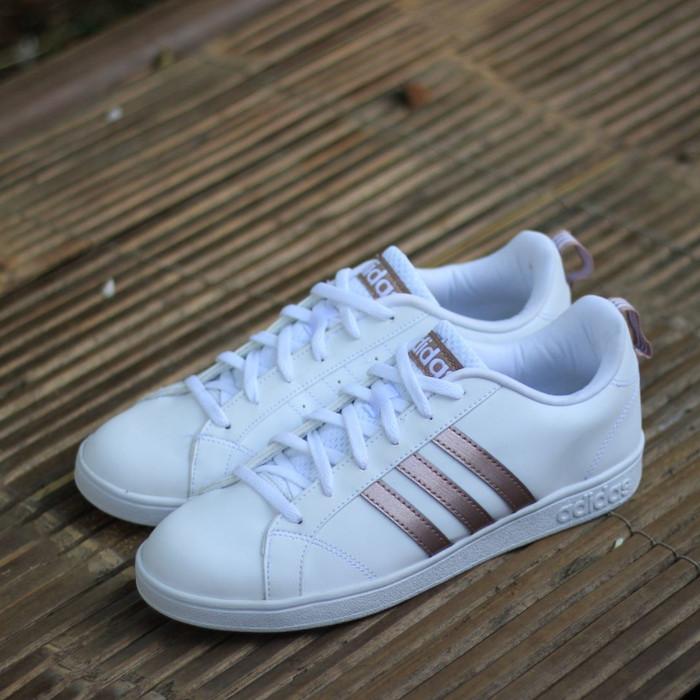 e5ea9c45507b Jual Sepatu Adidas ORIGINAL Neo Advantage Clean White List Rose Gold ...