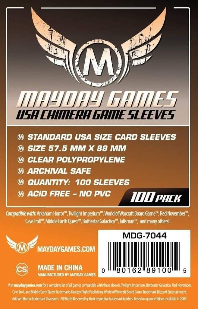 Foto Produk Mayday Card Sleeves 57.5x89mm - Chimera - Board Game - 57.5 x 89 mm - dari Toko Board Game