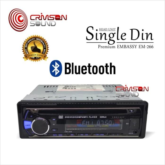 harga Embassy single din dvd head unit em-266 bluetooth Tokopedia.com