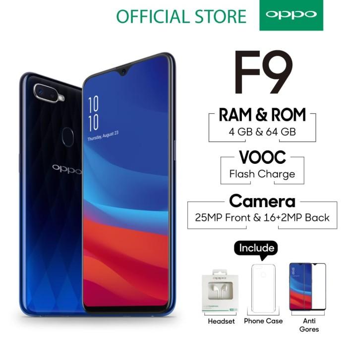 Oppo F9 Smartphone 4gb/64gb Blue (Cicil Tanpa Kartu Kredit, Garansi Resmi) - Blue - Blanja.com