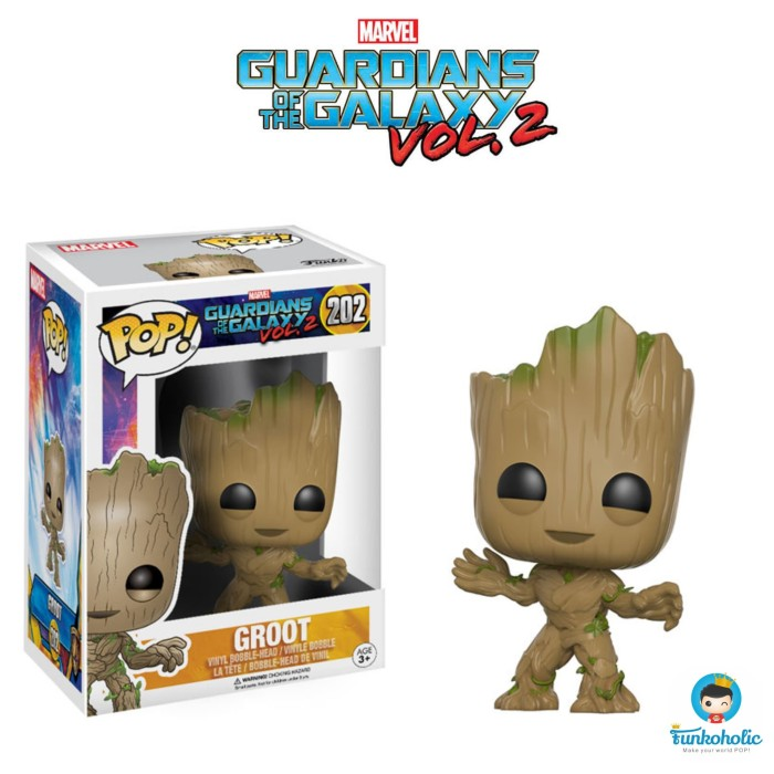 harga Funko POP! Marvel Guardians of the Galaxy Vol. 2 - Groot #202 Tokopedia.com