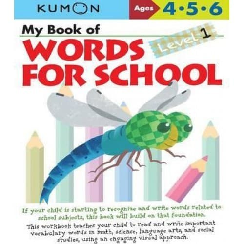 My Book of Words for School Level 1 By Kumon Publishing