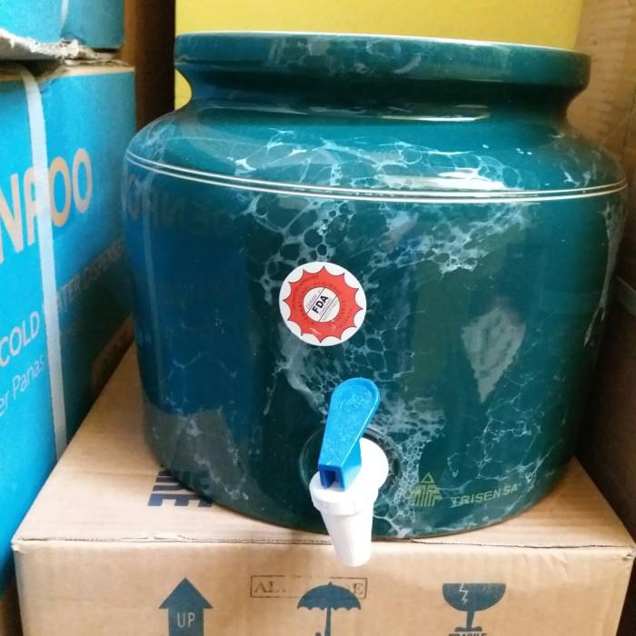 harga Guci keramik trisensa art embos ikan pipih choco ta 2k kaki stainless Tokopedia.com