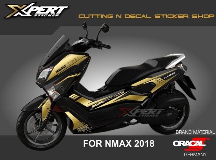 Stiker Nmax Gold Cutting Sticker Nmax Hitam 2018 - Blanja.com