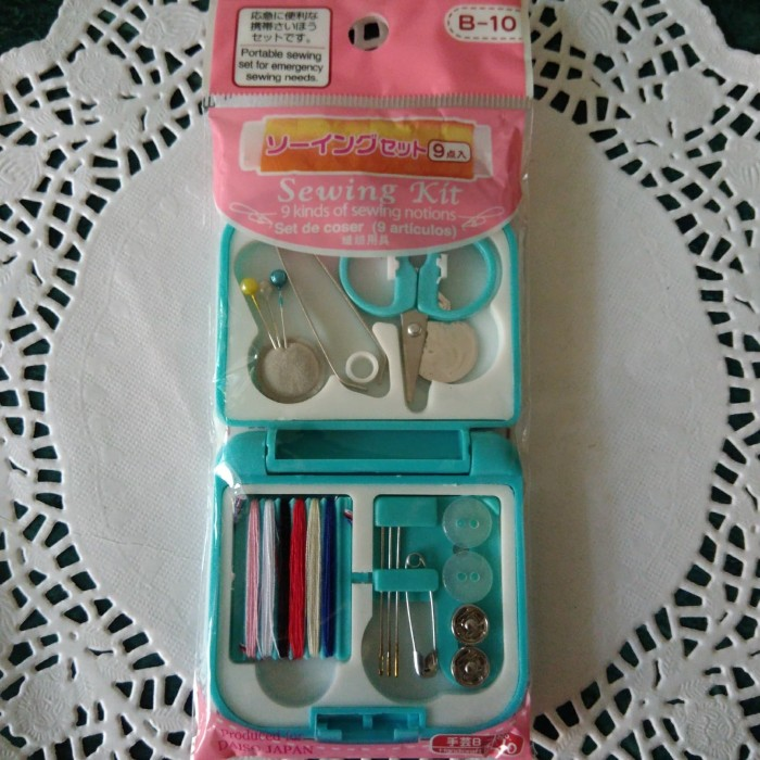 Transparent Portable Sewing Box Kit Kotak Jahit Set Transparan Source · DAISO JAPAN Set alat jahit sewing kit kerajinan tangan portable