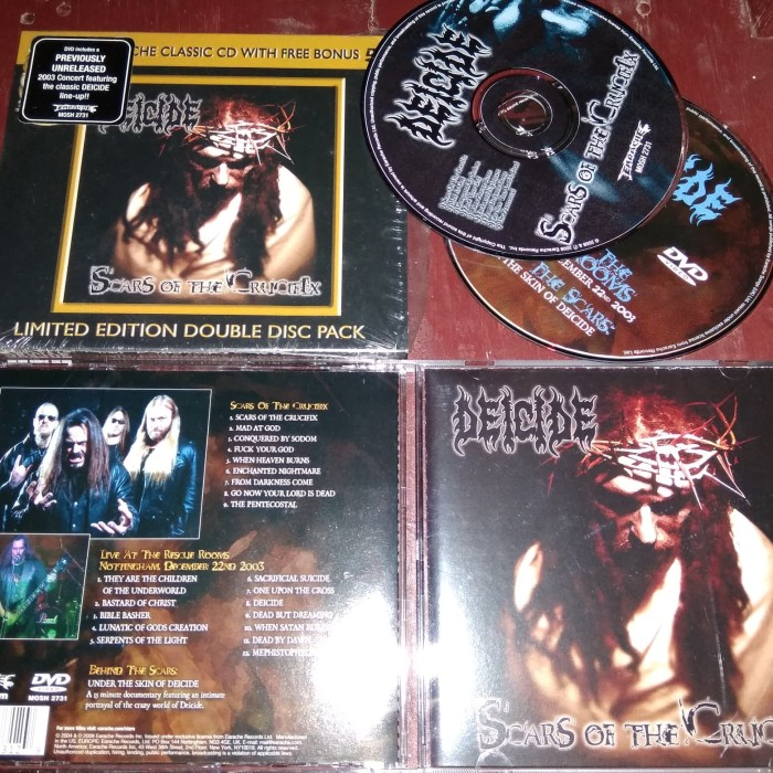 CD DVD DEICIDE - Scars of the Crucifix Limited Edition bonus DVD